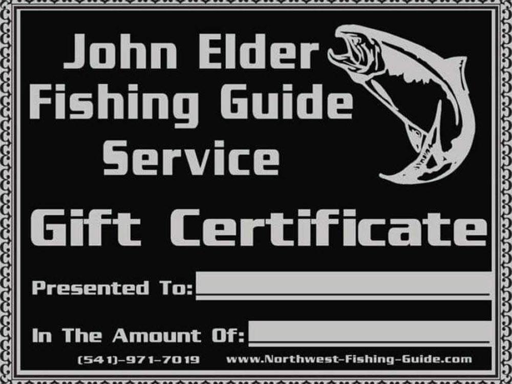 Gift Certificate from John Elder Fishing Guide Service